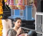 Praying to Attukal Devi