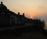 A temple without an idol on the hill above Gokarna's beach