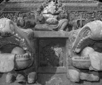 Carving on the a temple chariot