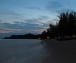 The last rays of sun on Koh Mak's southern beach
