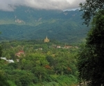The Peace Stupa - Santi Chedi - seen from Phousi Hill