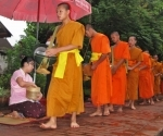 The alms giving ceremony