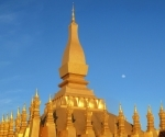 Pha That Luang: the golden stupa which is said to contain a fragment of the Buddha's finger bone