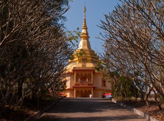The Peace Stupa at Wat Phol Phao, outside Luang Prabang