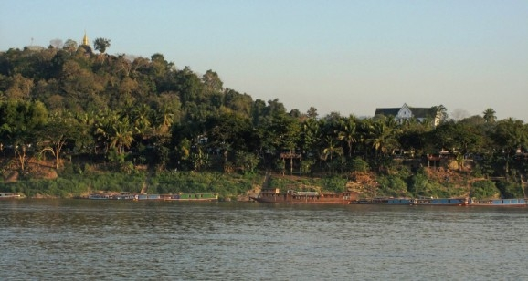 Luang Prabang seen from the a ferry across the Mekong