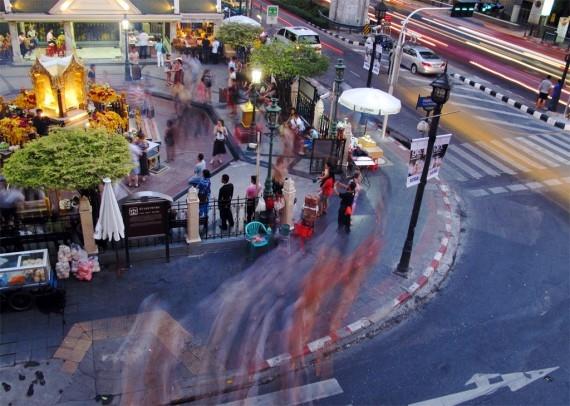 Bangkok's busy Erawan shrine