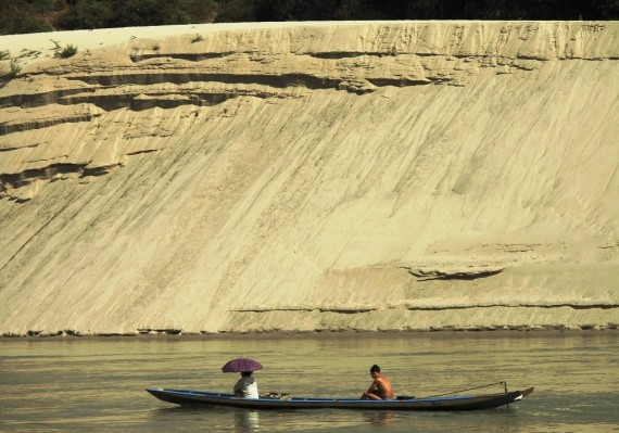 The Mekong's sandy banks