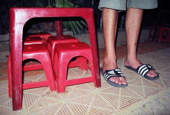Vietnam's tiny stools, to scale