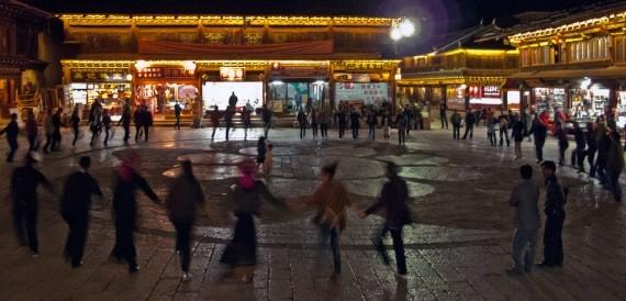Dancing in the Shangri-La's old town