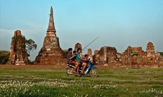 The ruins of Wat Mahathat in Ayutthaya
